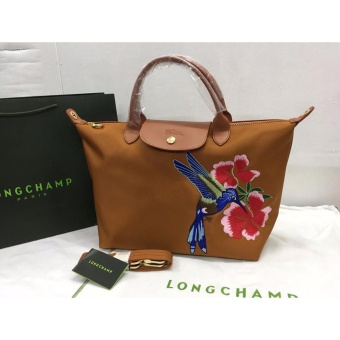 Longchamp Robin Embroidered Medium Tote Bag (Caramel) Price Philippines