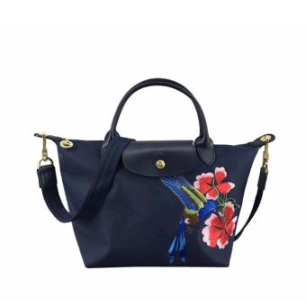 Longchamp Robin Embroidered Tote Bag (Navy Blue) Price Philippines