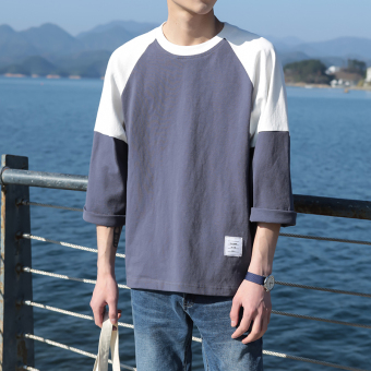 LOOESN autumn New style sleeve T-shirt (Blue)