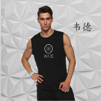 LOOESN breathable quick-drying mesh T-shirt basketball vest (Wade logo Models)