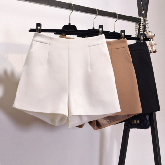 LOOESN casual female outerwear suit pants shorts (Khaki)
