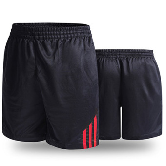 LOOESN casual New style for men and women breathable black I shorts (Red)