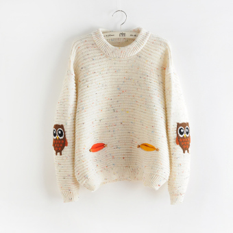 LOOESN cute female autumn and winter High School Students sweater sweet sweater (Mi Bai)