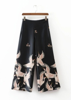 LOOESN European and American spring and summer New style Crane culottes