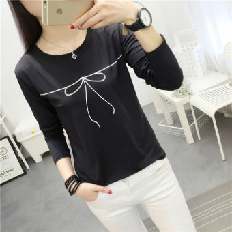 LOOESN Korean-style female high school students heattech female Top (314 * Black)