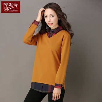 LOOESN Korean-style female long-sleeved New style Top autumn T-shirt