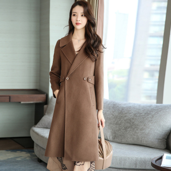 LOOESN Korean-style female mid-length New style woolen coat (PARK'S color)