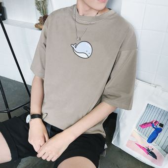 LOOESN Korean-style short sleeved men summer T-shirt (Whale PARK'S color)