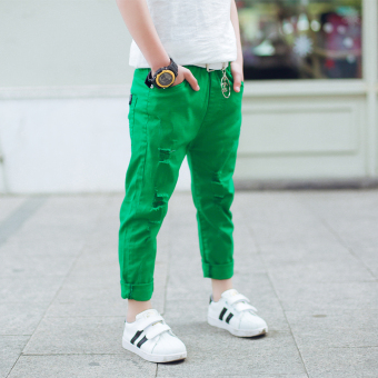 LOOESN Korean-style spring New style Baobao Pants pants (Green)