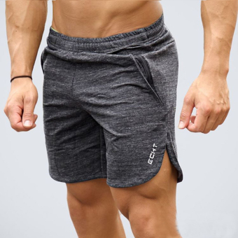 LOOESN men Slim fit Plus-sized summer fitness pants I shorts (Gray)
