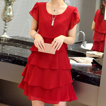 LOOESN mm200 fat dress Dress (Red)