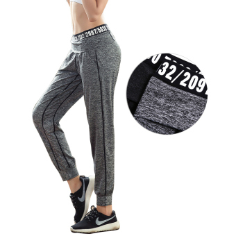 LOOESN running quick-drying sports pants yoga clothes (Light gray color)