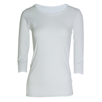 Lookssy Unisex Style Quarter Sleeve (White)