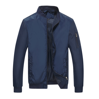 Loose green autumn New style father jacket men's jacket (Blue)