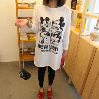 Loose Korean-style cotton spring and summer New style base shirt T-shirt