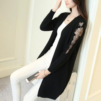 Buy Latest Summer Crochet Lace Cardigan Black Price In Philippines ...