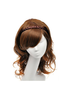 Lovely Synthetic Fiber Braid Headband (Wine Red) - picture 2