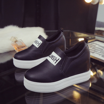LR Korean-style spring New style platform shoes within the higher shoes (Black A-32 single paragraph)