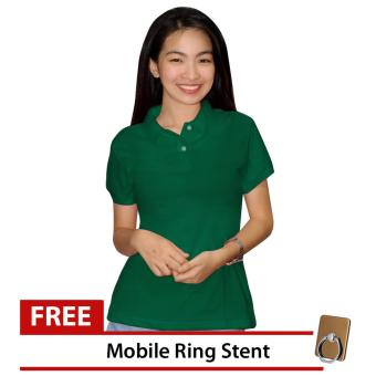 Lucky Hanna Ladies Cotton Semi-fit Polo Shirt (Emerald Green) Price Philippines