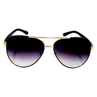 Maldives CY5700 Unisex Cyrus Gradient w/ Gold Sunglasses (Black)
