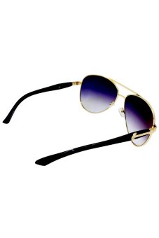 Maldives CY5700 Unisex Cyrus Gradient w/ Gold Sunglasses (Black) - picture 2