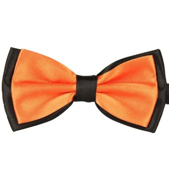 Male Double Color Marriage Bow Ties Orange