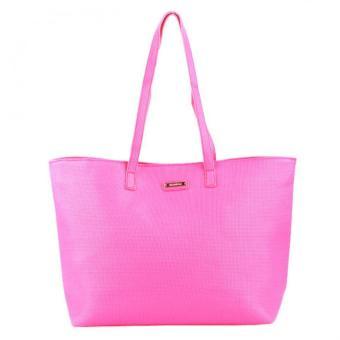 MANGO Braided Shopper Bag (Coral)