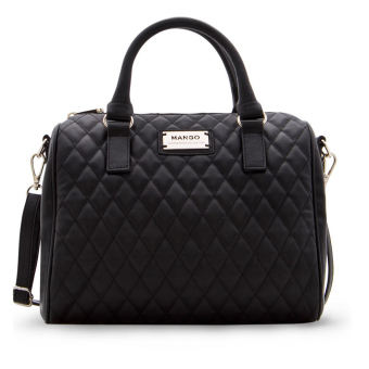 Mango Quilted Bowling Handbags (Black) - intl Price Philippines