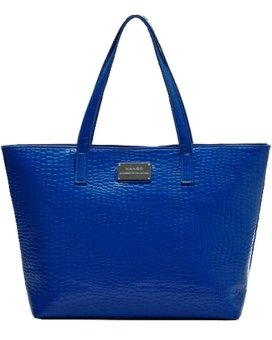 Mango Stone Grain Shopper Tote Bag (Blue) Price Philippines