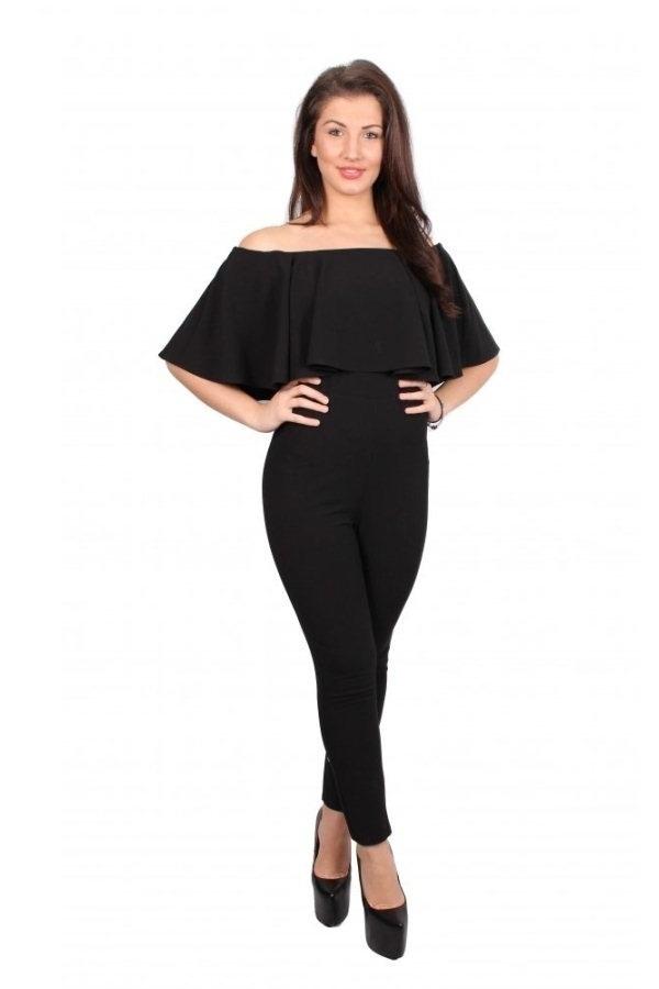 Marian Off Shoulder Jumpsuit (Black) | Lazada PH