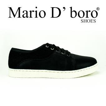 Mario D' boro Runway Jenery Sneakers (Black)