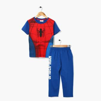 Marvel Spider-Man Boys Tee and Pajama Set (Blue)