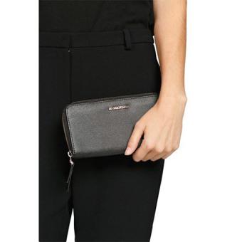 Mashana Mango Saffiano Effect Zip PU Leather Long Wallet PurseMS-SMB - 2