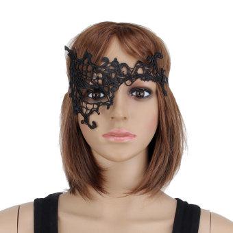 Masquerade Half Face Mask Black