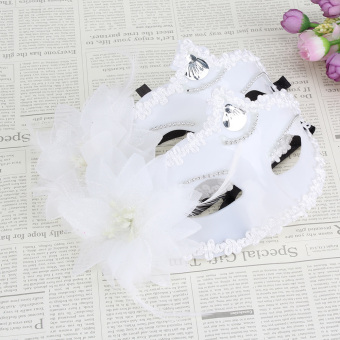 Masquerade Mask Set of 2 (White) - picture 2