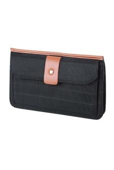 McJIM C-107-3013 Canvass Clutch Bag (Black/Tan)