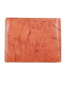 McJIM W-28-2089 Tawny Crunch Leather Billfold Wallet (Tan)
