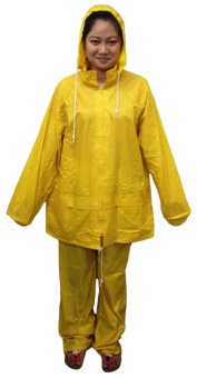 Meisons best quality rain coat pants and jacket yellow