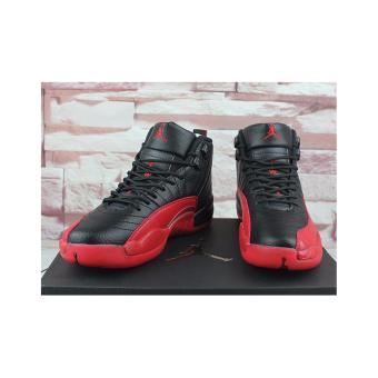 Men Basketball Shoes For Jordan12 Sneakers(Black/red) - intl - 2