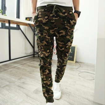 Men Camouflage sportswear Pants Casual Elastic Cloth MensSweatpants - intl