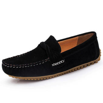 Men Casual Leather Fashion Loafers Black - picture 2