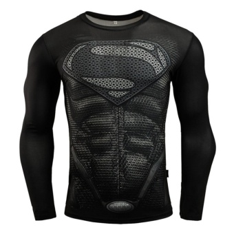 Men Compression Tight T-shirt Long Sleeves Prints Base Layer(Type 13) - intl - 2