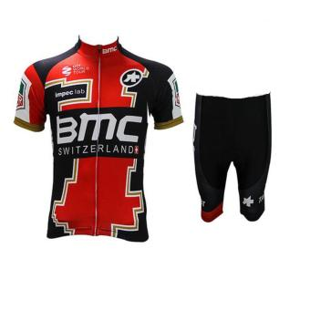 Men Cycling Jersey and Non Bib Shorts Set Quick Dry Gel Padded Clothing-FNM (BMCSWIT)