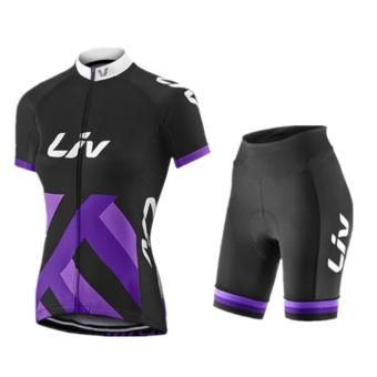 Men Cycling Jersey and Non Bib Shorts Set Quick Dry Gel Padded Clothing-FNM (LIV5)