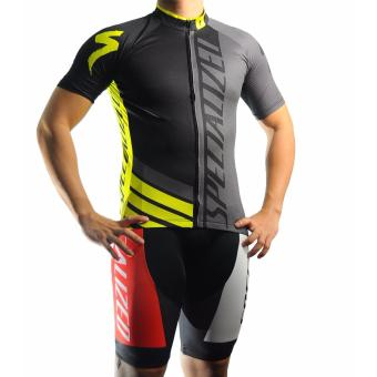 Men Cycling Jersey and Non Bib Shorts Set Quick Dry Gel Padded Clothing-FNM (SPC10)