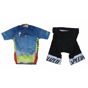 Men Cycling Jersey and Non Bib Shorts Set Quick Dry Gel Padded Clothing-FNM (Spec15) - 2