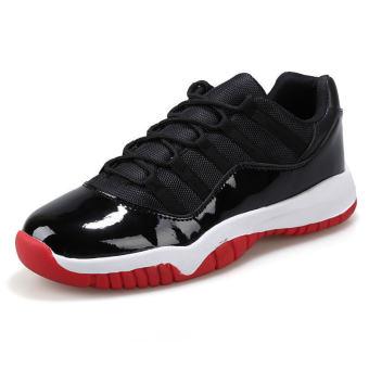 Men Fashion Basketball Sport Low Cut Sneakers-Red