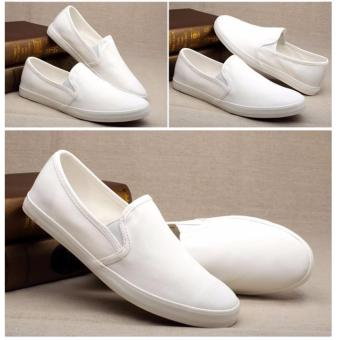 Men Fashion Canvas Slip On Loafer - White