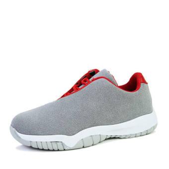 Men Fashion Casual Low Cut Sneakers-Grey