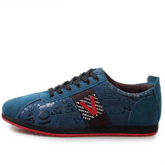 Men Fashion Flat Skater Shoes – Blue - picture 2